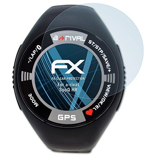atFoliX Schutzfolie kompatibel mit a-Rival SpoQ HR Folie, ultraklare FX Displayschutzfolie (3X)