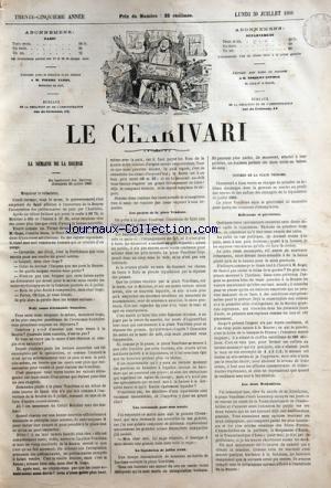 CHARIVARI (LE) du 30/07/1866 - LA SEMAIN...
