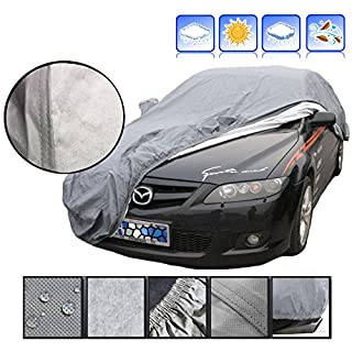 A-Express® 100% Waterproof Extra Large XXL Outdoor Breathable Layers Full Car Cover
