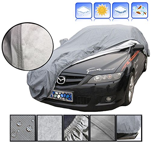 Full Car Covers Covers Car Cover Compatible with BMW 320Li Used Throughout The Year Dustproof Scratch Resistant Flame Retardant Car Covers Color : Silver, Size : Single Layer