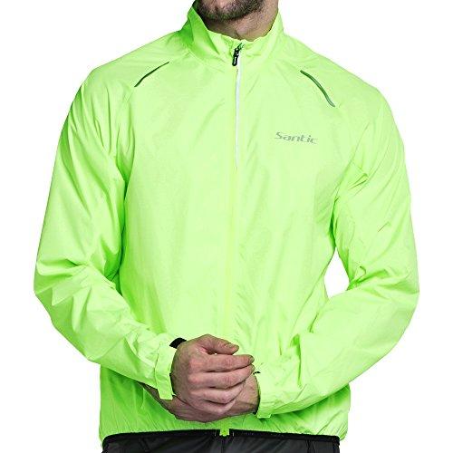 Santic UV Schutz UPF 30+ Herren Wasserdicht Hoodie Radsport Regenjacke