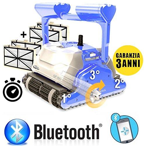 Maytronics Dolphin SF60 BLUETOOTH Smart Timer Digital TOP GAMMA - Robot Elettrico Pulitore per Piscina fino a 15 Mt - TOP GAMMA - ESCLUSIVA ITALIA