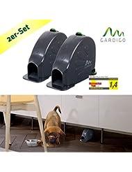 Gardigo Trampa para ratones Set de 2 Ratonera golpe jaula de Alfombrilla contra los ratones higiénica, practicamente e seguro