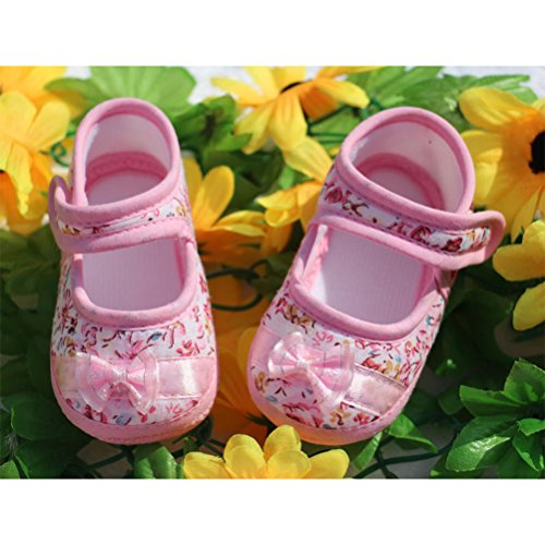 Zhuhaitf Ausgezeichnet Baby Girls Comfortable Soft bottom Princess Shoes AntiSlip Shoes Pink
