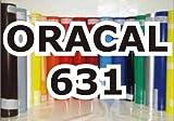 Oracal 631 - Orafol Folie Meterware matt, 63 cm Folienhöhe für Wandtattoos / Küche - Bad - Fliesen lichtblau - Markierungen, Beschriftungen und Dekorationen - Klebefolie - Plotterfolie - Wandschutzfolie - Möbelfolie - Fahrzeugfolie - selbstklebend - Küchenfolie - Dekofolie - Möbel - Aufkleber - Folie