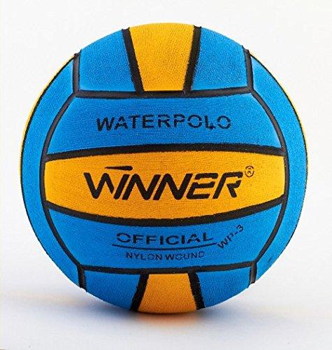 Ganador del balón de waterpolo. Tamaño 3, Mini Polo. Azul-amarillo