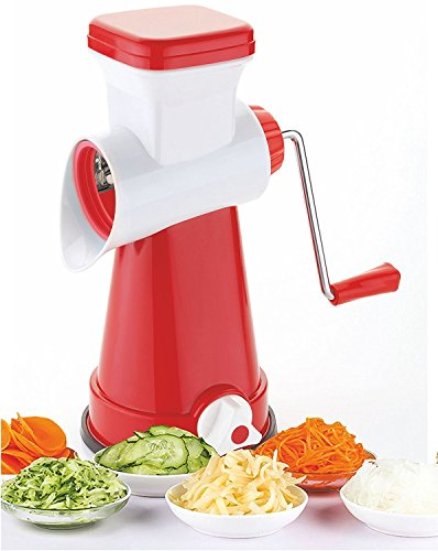 Ketsaal Innovative Rotary Vegetable Dry Fuits,Vegetables,Fruits,Chocolates,Dry-Fruits Cutter Grater Slicer Dicer Salad Maker, 3-Piece, Color May Vary