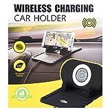 Wireless Auto-Ladegerät, USB-Ladegerät, mit Halterung, Schnellspanner, Einstellbar, Alle Geräte mit Qi-fähigen Geräten, Kabellos, Hohe Empfindlichkeit, Ausgestattet mit Rutschfester Silikonbasis