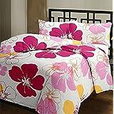 SUNJES Poly Cotton Floral Print Double Bed Dohar, Blanket, AC Dohar (Multicolour, BKTD1048)