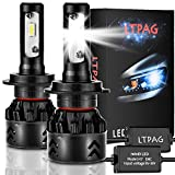 LTPAG 2pcs H7 LED Faros Delanteros Bombillas, 72 W 12000LM 6000K Bombillas LED Coche Kit IP68...