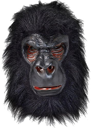 Halloween Fancy Weihnachten Party Overhead Wildlife Jungle Tier Kostüm Maske UK Gr. Einheitsgröße, Gorilla (Overhead Maske Tier Latex)