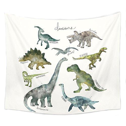 Kentop dinosauri parete arazzo cimiero tovaglia spiaggia panno coperta da picnic per bambini camera decorazione