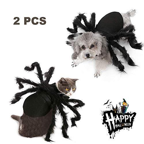 Eine Kostüm Macht Spinne - UTOPIAY Katze Halloween Kleidung, fantastisches Cosplay Spinnen Kostüm für Hundekatze, Halloween Karnevals Festival Dekoration justierbares Grausigkeits Spinnen Design