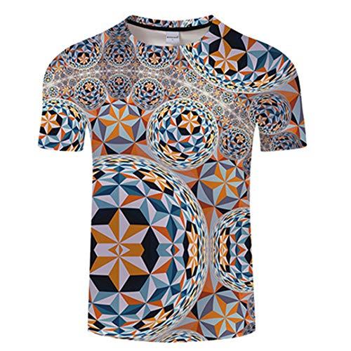 Ball Muster 3D Print T Shirt Männer Neuheit T Shirt Lustige Tops Sommer Kurzarm Unisex TX551 Asian XL
