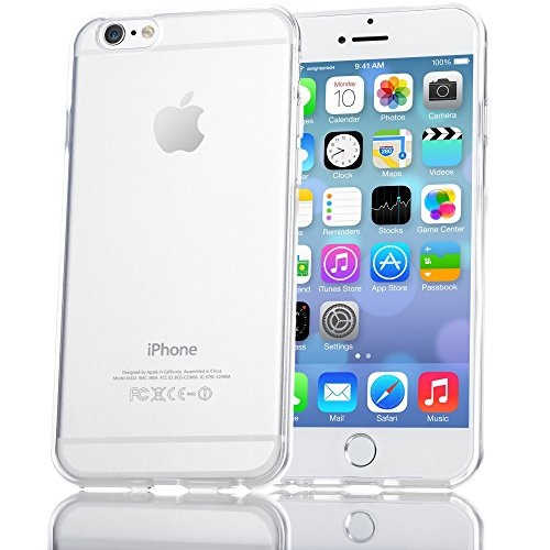 iPhone 6 6S Hülle Handyhülle von NICA, Ultra-Slim Silikon Case Crystal Schutzhülle Dünn Durchsichtig, Handy-Tasche Back-Cover Transparent Bumper für Apple iPhone 6S 6 - Transparent