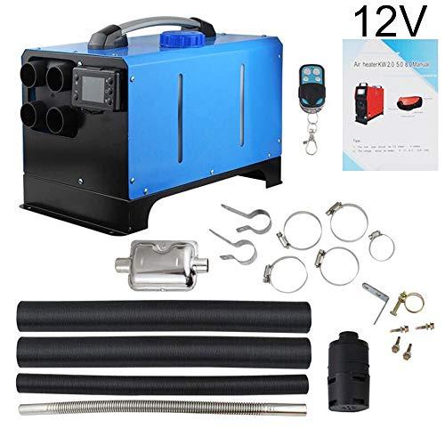 Luxiye, riscaldatore ad aria da 12 V/24 V, 5 kW, con telecomando, riscaldatore automatico, riscaldatore per parcheggio, dispositivo di parcheggio integrato, riscaldatore per carburant