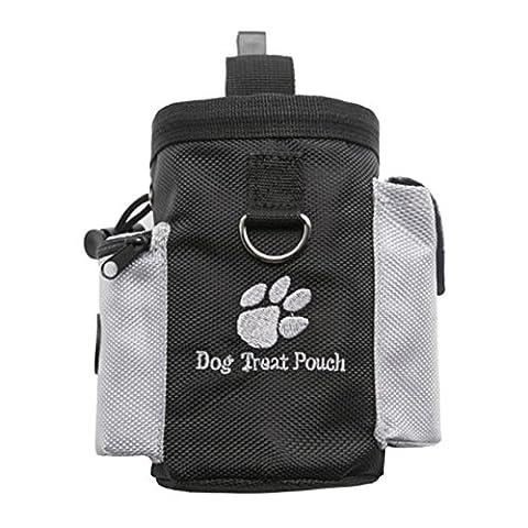 Puppy Pet Sac à goûter Pochette Sachet d'entraînement Sac Clip de ceinture de formation avec distributeur de sac à déjections canines Poche