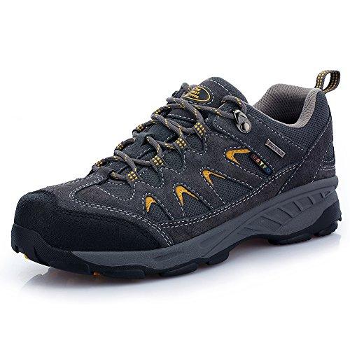 Tfo scarpe da trekking da uomo, traspiranti e resistenti, basse, (Deep Grey), 42 EU