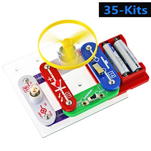 rcuit Kit für Kids, Science Discovery Experimente-Kits, Educational Elektronische Bausteine Set, DIY Smart Circuit lernen, Kid brain-boosting, skill-building Entwicklung Fun Toy (Science Experiment Kits)