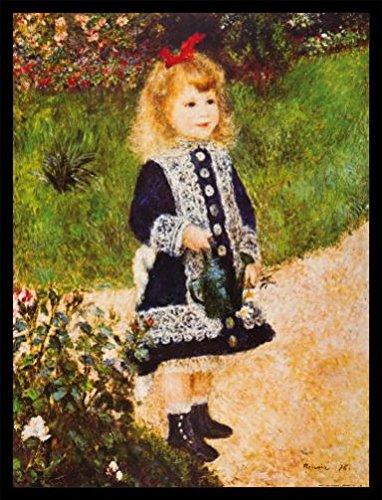 Pierre-Auguste-Renoir-Pster-Impresin-Artstica-con-Marco-Madera-DM-Negro-Nia-Con-Regadera-1876-80-x-60cm