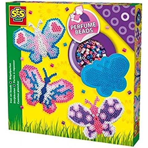 SES Creative - Set de cuentas para planchar de mariposas, multicolor (06107)