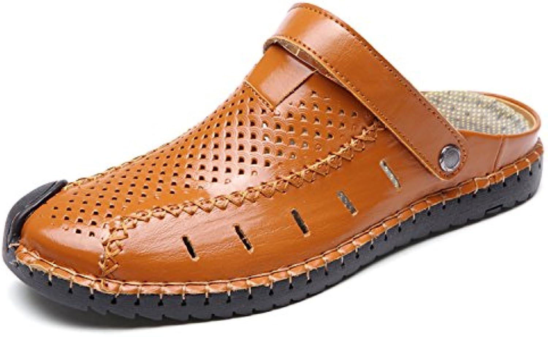 Auspiciousi 2018 Neue Männer Kuhfell Sandalen Atmungsaktive Freizeitschuhe Herren Flache SchuheAuspiciousi Kuhfell Sandalen Atmungsaktive Freizeitschuhe