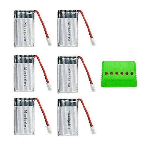 Mondpalast @ 6X batería lipo de repuesto 3,7V 850mAh con 6 en...