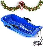 Turbo Slign Schlitten mit Bremsen✅⭐⭐⭐⭐⭐✅ Kunststoff-rodel für Kinder/Kleinkinder/Erwachsene hochwertige Qualität (blau)