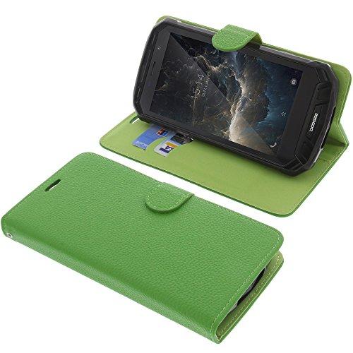 foto-kontor Tasche für Doogee S60 Book Style grün Schutz Hülle Buch