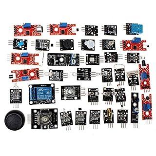 zNLIgHT Eletronic Digital Components | 37Pcs/Set Sensor Module Board Starter Assortment Kits for Arduino Raspberry Pi - Multicolor