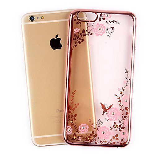 Bling Bling Coque pour iPhone 7 Plus,Silicone Coque pour iPhone 7 Plus,Transparente Coque pour iPhone 7 Plus,iPhone 7 Plus Coque Bling Diamant Cœur Etui Housse,EMAXELERS iPhone 7 Plus 5.5 Pouce Crista TPU 120