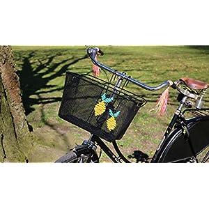 "Fahrradkorb Lenkerkorb handbestickt ""Zitrone"""