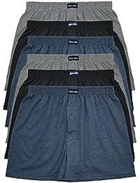 TOPANGEBOT 12 oder 6 Boxershorts farbig weich & locker in neutralen Farben klassischen Unifarben MioRalini Herren Boxershort M L XL 2XL 3XL 4XL