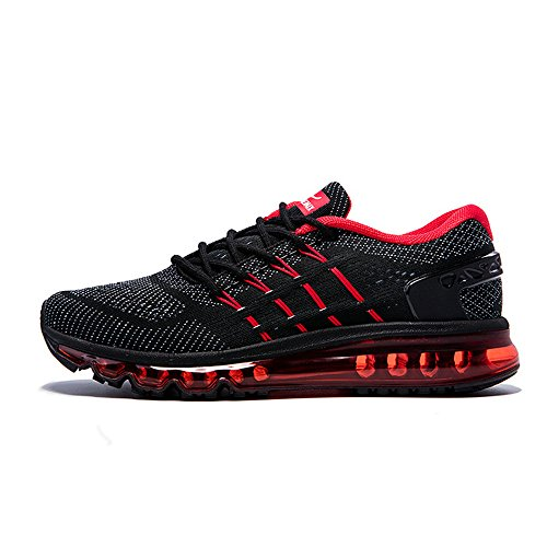Onemix Homme Air Baskets Course Gym Fitness Sport Chaussures RedBlack