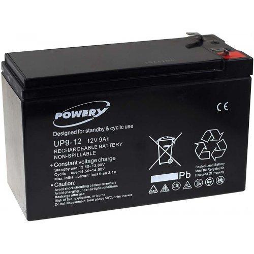 Batteria al Gel di piombo Powery per:UPS APC Back-UPS BR500I 9Ah 12V