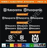 Pimastickerslab Kit Husqvarna Selbstklebende Aufkleber, 14-teilig?SCEGLI Colore- Motorrad Cod. 0463 - Bianco cod. 010