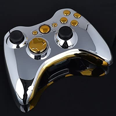 Xbox 360 Wireless Controller - Chrome with Chrome Gold Buttons