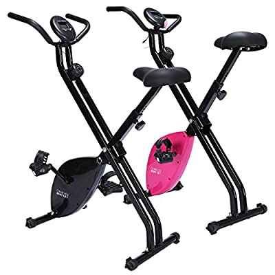 Charles Bentley Indoor Exercise Bike Home Cardio Training Workout Weight Loss 1.5kg Flywheel Available In Black / Pink by Charles Bentley
