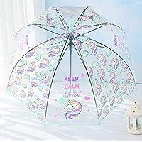 Unicorn Transparent Umbrella Kids Children Clear Bubble Dome Girl Cute Mushroom Cartoon Jelly Woman Wedding Decoration