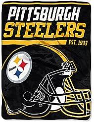 Nord-ouest Home decore NFL Pittsburgh Steelers 36,6m Dash Micro Couvre-lit Motif souple, Noir, 116,8x 152,4cm
