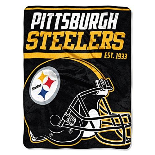 f14305040ed The Northwest Company NFL Pittsburgh Steelers 40-Yard Dash Micro Raschel  Überwurf Plüschdecke 117 x 152 cm
