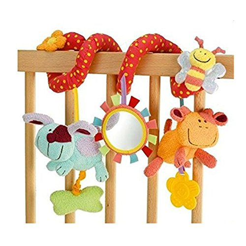 Vi.yo Kinderwagen Spirale Spielzeug Aktivität Hängende Spielzeug Autositz Kinderwagen Spielzeug mit Klingel Glocke - Mädchen Spielzeug Autositz