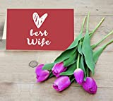 TiedRibbons Valentine Gifts for Wife, Valentine's day gifts, Best gift for Valentine for Her Purple Tulip Flowers Bunch with Valentine's Special Greet best price on Amazon @ Rs. 549