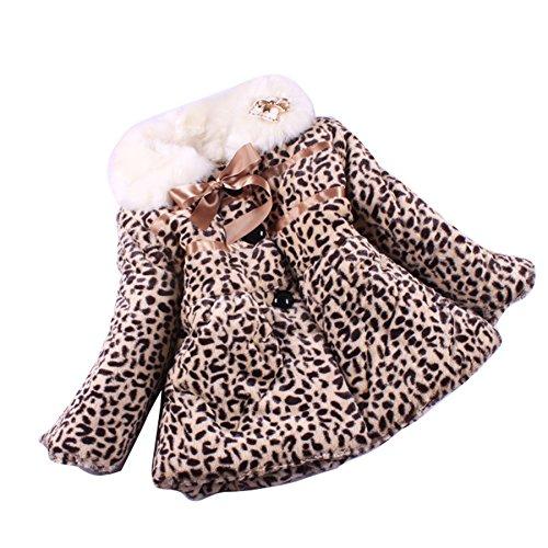 Gaorui Hiver Enfant Bebe Fille Mignon Motif Leopard Veste Polaire Avec  Fourrure ac8ae1b16287