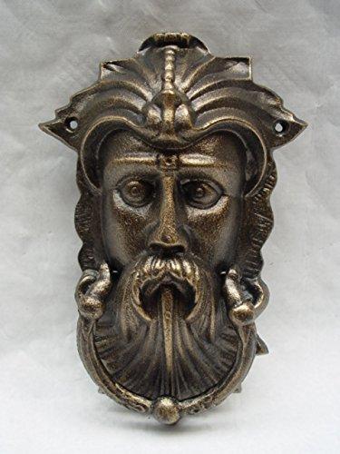 Decorativo in ghisa batacchio per porta stile vintage immagine di Viking Testa altezza 25cm