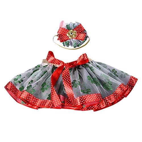Amosfun Kinder Tanz-Tutu Röcke Haarband Sets Schöne Make-up-Kleidung für Performance Dance (Tinkerbell Kostüme Make Up)