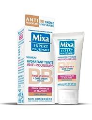 Mixa Expert Peau Sensible - Hydratant Teinté Anti-Rougeurs à l'Extrait de Fleur d'Arnica + Cold Cream Apaisant Teinte Médium - 50 ml