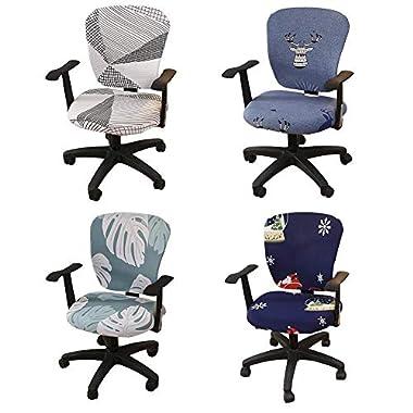 QUUY Bürocomputer-Stuhl-Abdeckung dehnbarer Separate Stuhl-Abdeckung Drehstuhl, elastische gestrickter Gewebe-Drehstuhl Slipcover für Büro Rotating Chair (kein Stuhl)