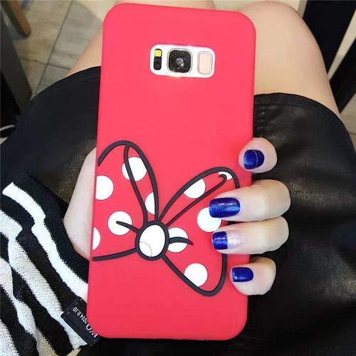 SEBAS Home Minnie Bow Samsung S6 S7 Mobile Shell Silikon Softshell S8 Mickey Finger Apple S8 + Hängender Hals note8 (Color : 1-S8) - Minnie Bows