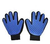 Unicoco 2 piezas de guantes de masaje para perros y gatos cepillo para el pelo para guantes de cuidado suave y eficaz